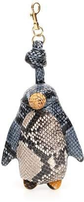 Anya Hindmarch Python Print Chubby Penguin Charm