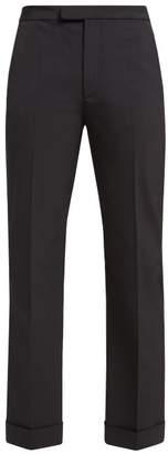Maison Margiela Tailored Kick Flare Trousers - Womens - Black