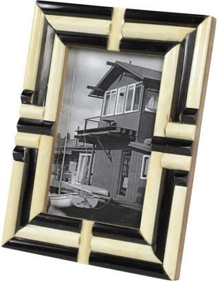 Uma Enterprises Natural Bone Striped Rectangular Picture Frame