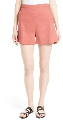 Women's Theory Tarrytown Stretch Linen Blend Shorts $190 thestylecure.com