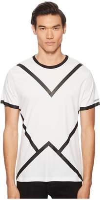 Versace Black Line Tee Shirt Men's T Shirt