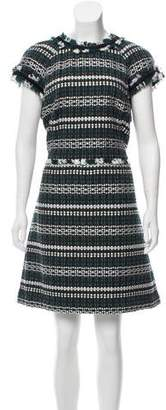 Tory Burch Frayed Tweed Dress w/ Tags
