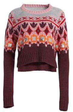 Cinq à Sept Gianni Fair Isle Knit Sweater