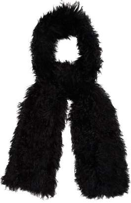 Yves Salomon Shearling Scarf - Womens - Black