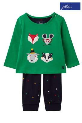 Joules Boys Byron Applique Trousers Two Piece Set - Green