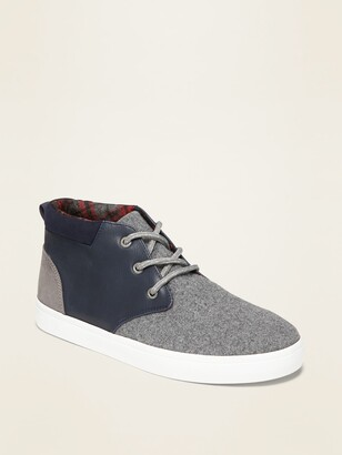 Old Navy Soft-Brushed Felt/Faux-Leather Sneakers for Boys
