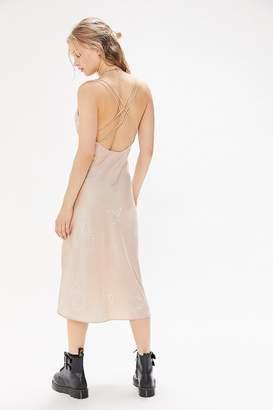 Finders Keepers Cristina Cross-Back Slip Midi Dress