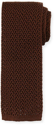 TOM FORD Silk Knit Flat-End Tie $250 thestylecure.com