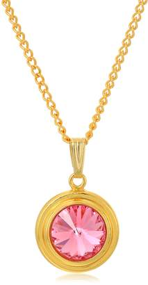 Alex and Ani Halos and Glories October Crystal Pendant Necklace