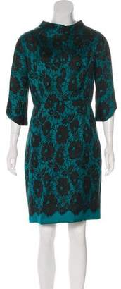 Milly Lace Print Knee-Length Dress