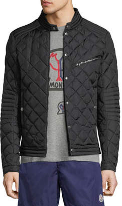 Moncler Men's Fred Quilted Zip-Front Jacket