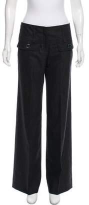 Burberry Wool Mid-Rise Pants