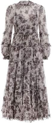 Zimmermann Juno Tiered Long Dress