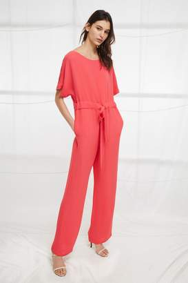 French Connenction Patras Crepe Long Jumpsuit