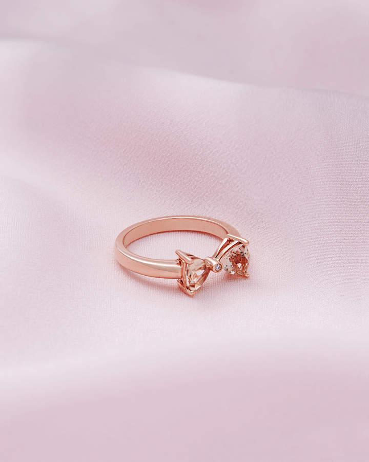 Ring Mit Rotgold, Morganit Und Diamant