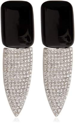 Saint Laurent Crystals & Resin Clip-On Earrings