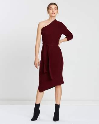 Mesop Tanzanite Cold Shoulder Dress