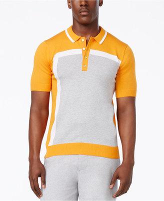 Sean John Men's Intarsia Colorblocked Sweater Polo $74.50 thestylecure.com