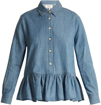 The Great The Ruffle Oxford cotton shirt
