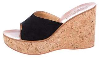 K Jacques St Tropez Suede Slide Sandals