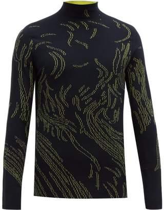 Namacheko Nyas Abstract Jacquard Sweater - Mens - Black Yellow