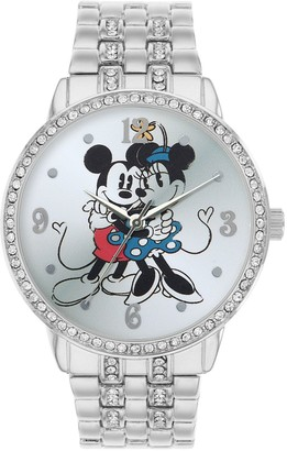 Disney Disney's Mickey & Minnie Mouse Women's Cubic Zirconia Watch