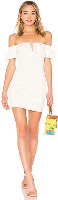 LPA Smocked Mini Peasant Dress