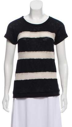 Sanctuary Striped Open Knit Top