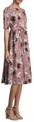 Max Mara Floral A-Line Dress