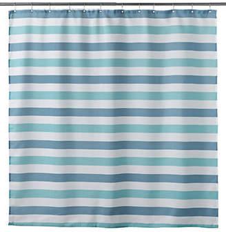 DISTINCTLY HOME Herringbone Striped Shower Curtain