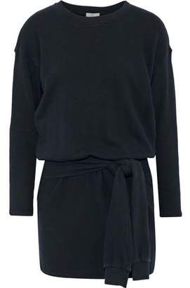 Joie Lucya Tie-Front French Cotton-Terry Mini Dress