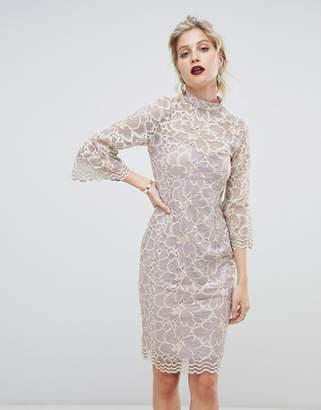 Paper Dolls soft lace high neck dress