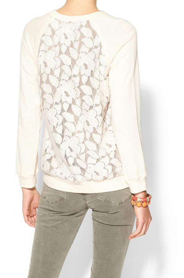 See by Chloe THML Clothing Lace Front Sweatshirt