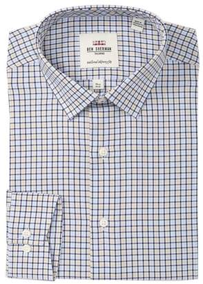 Ben Sherman Herringbone Tailored Slim Fit Dress Shirt