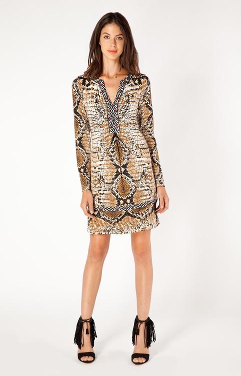 Hale Bob - Vera Jersey Dress in Brown