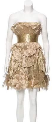 Marchesa Metallic Mini Dress
