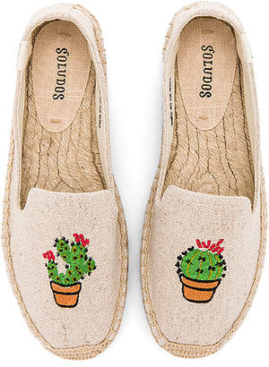 Soludos Cactus Platform in Beige $75 thestylecure.com