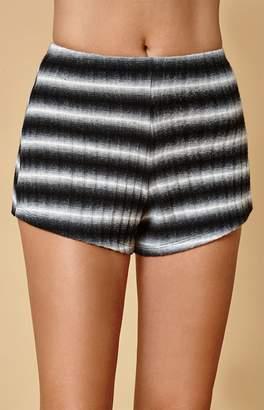 Honey Punch Black & White Stripe Shorts