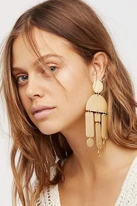 David Aubrey Windchimes Brass Earring