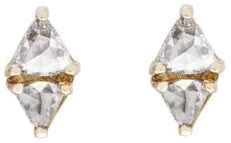 Couture Sethi Trillion Diamond Stud Earrings - Yellow Gold