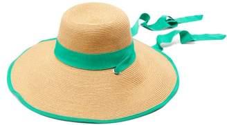 Filù Hats Filu Hats - Arenal Wide Brimmed Straw Hat - Womens - Green