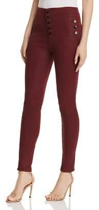 d9e8b42ff38 J Brand Natasha Sky High Skinny Jeans in Coated Oxblood