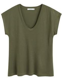 MANGO Soft fabric t-shirt