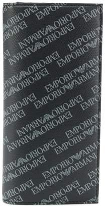 Emporio Armani printed logo wallet
