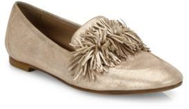 Aquazzura Wild Shimmer Suede Loafer Flats $650 thestylecure.com