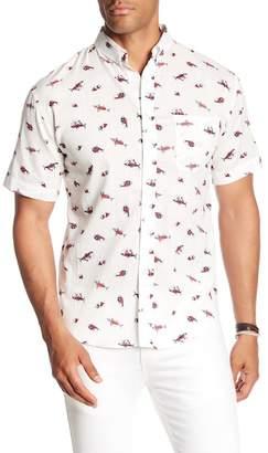 LOFT 604 Puffer Print Regular Fit Woven Shirt