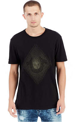 True Religion Metallic Embroidered String Mens Crew Tee