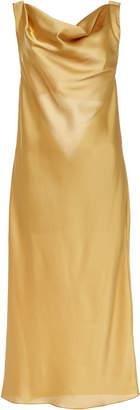 Marei 1998 Blazing Star Silk Draped Open Back Dress