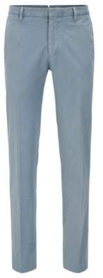 BOSS Hugo Garment-Dyed Cotton Suiting Pant, Slim Fit Barlow D 32R Open Grey