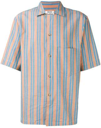 Acne Studios striped short sleeved shirt